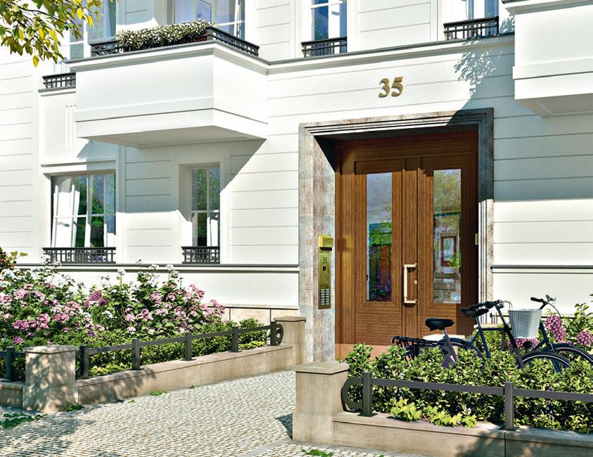Eingang Nassauische Straße 35 © BAUWERT AG