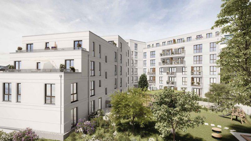 Vive la Rose • Hof © PROJECT Immobilien Wohnen AG
