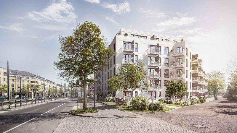 Vive la Rose • Straße © PROJECT Immobilien Wohnen AG