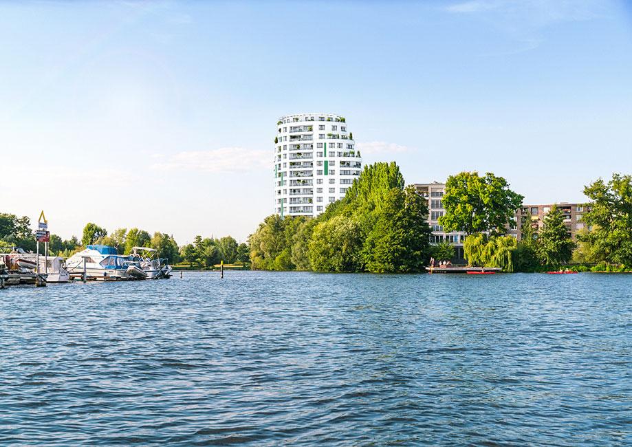 PROJECT-HavelPerle-Wasser Letzte Einheit im 50 Meter hohen Wohnturm HavelPerle in Berlin-Spandau verkauft