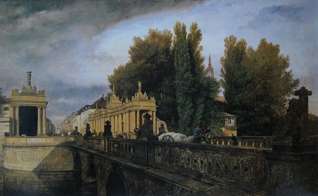 Architektur-Koenigskolonnaden-Koenigsbruecke_Gaertner_1835-1 Fast der Vergessenheit preisgegeben – Die Königskolonnaden