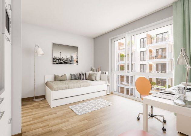 Studio Living Berlin B.1 © PROJECT Immobilien Wohnen AG