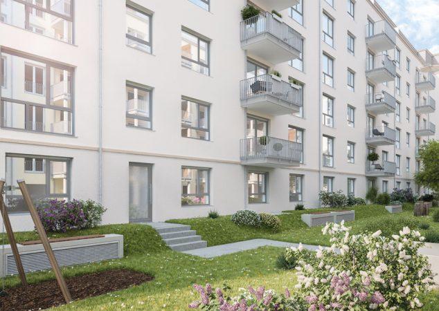 Studio Living Berlin B.1 • Außen © PROJECT Immobilien Wohnen AG