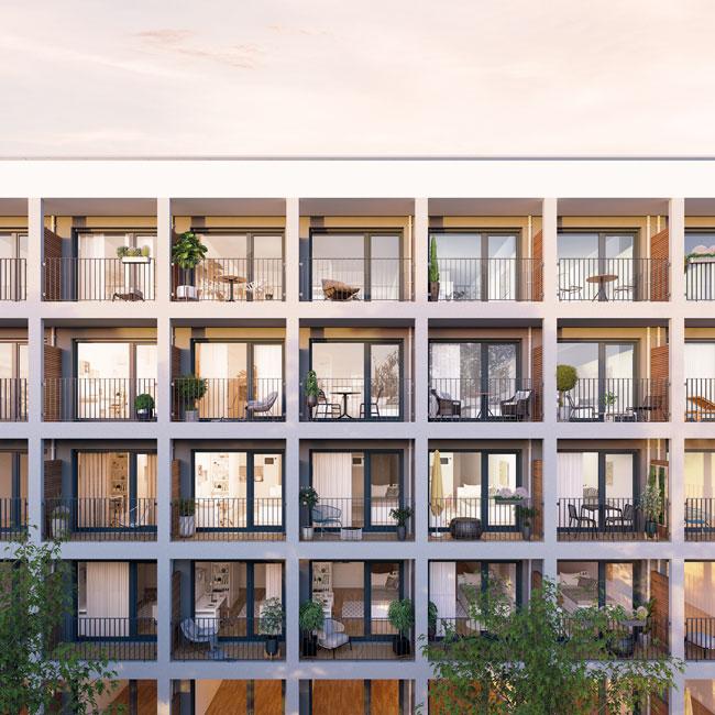 BOSSEuSPREE_Fassade Bosse & Spree : Neues Bauprojekt in Berlin Friedrichshain