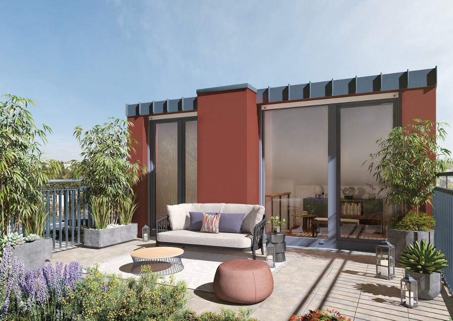 PROJECT_RC34_Dachgarten PROJECT Immobilien baut 80 neue Eigentumswohnungen in Berlin-Adlershof