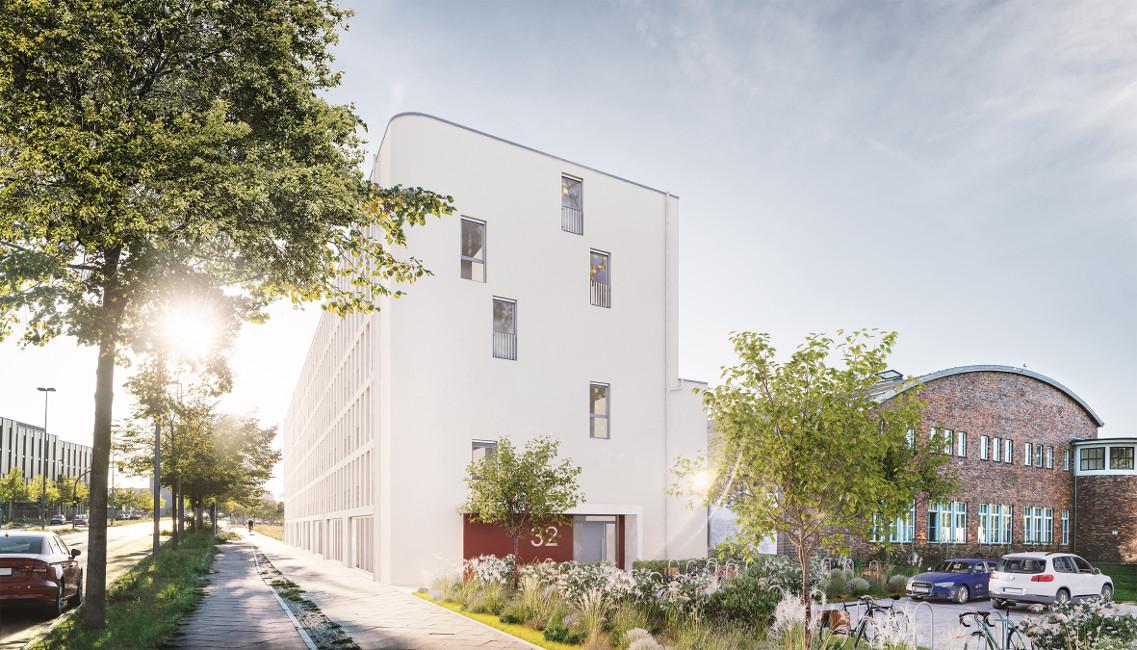 PROJECT_RC34_Eingang PROJECT Immobilien baut 80 neue Eigentumswohnungen in Berlin-Adlershof
