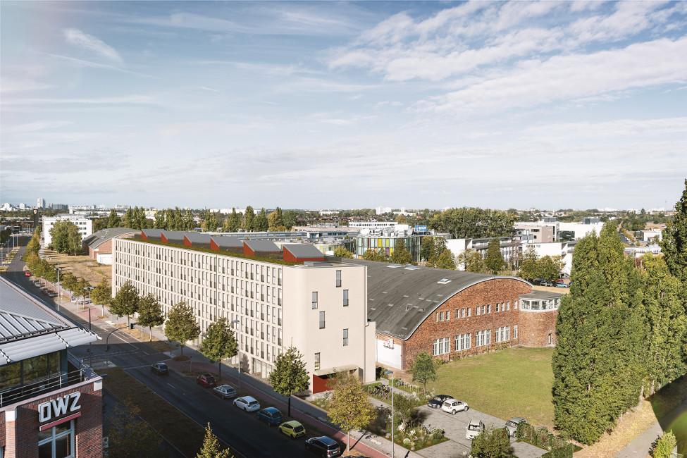 PROJECT_RC34_Vogelperspektive PROJECT Immobilien baut 80 neue Eigentumswohnungen in Berlin-Adlershof