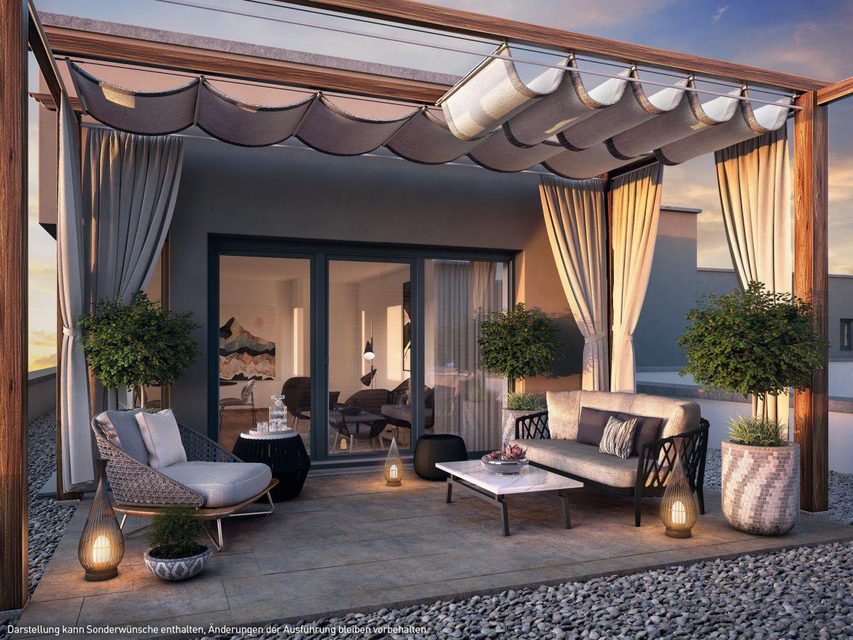 Dachterrasse © PROJECT Immobilien Wohnen AG