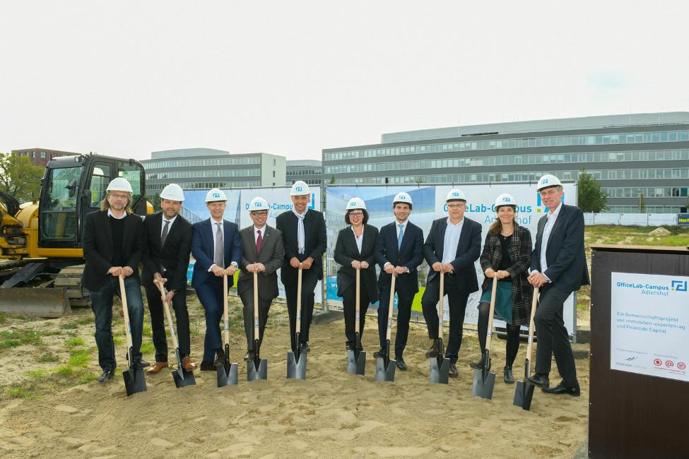Bezirksvorstellung_Treptow_KoepenickSpatenstich_OfficeLab-CampusAdlershof immobilien-experten-ag.  und Peakside Capital beginnen mit Bau des  OfficeLab-Campus Berlin-Adlershof