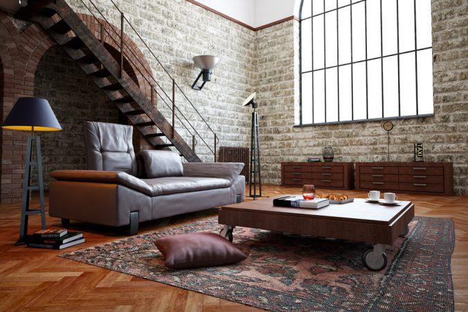 Sonderthema_Penthouse_Lofts_Wohnzimmer größer_Fotolia_44907205 © Christian Nitz / Fotolia.com