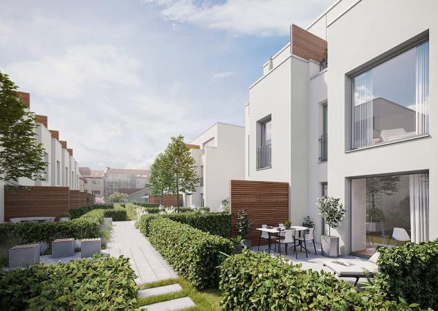 Urban Homes - Gartenansicht © PROJECT Immobilien Wohnen AG