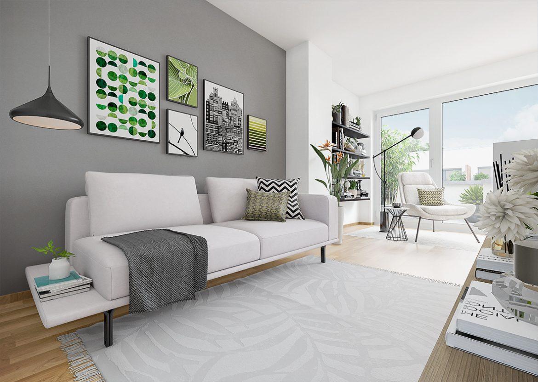 Urban Homes - modernes Wohnen © PROJECT Immobilien Wohnen AG