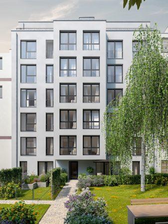 Blick auf den Innenhof  © PROJECT Immobilien Wohnen AG
