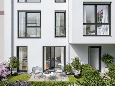ein Blick in den Garten © PROJECT Immobilien Wohnen AG