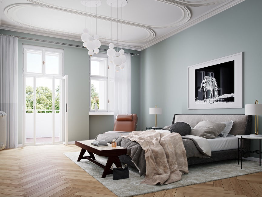 Blick ins Schlafzimmer © Eve Images Visualisierung
