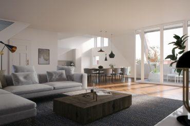ein Blick ins Wohnzimmer © Eve Images Visualisierung