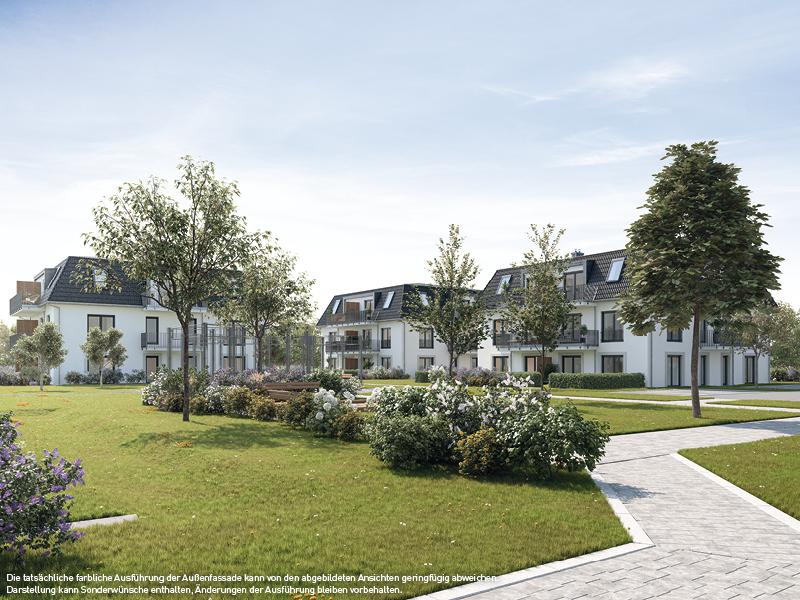 der Blick aufs Grüne © PROJECT Immobilien Wohnen AG