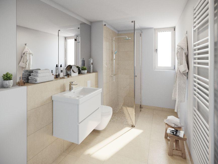 Ein Blick ins Badezimmer © First Home Wohnbau GmbH