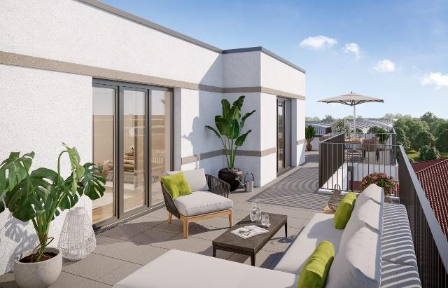 exklusive Dachterrasse © First Home Wohnbau GmbH