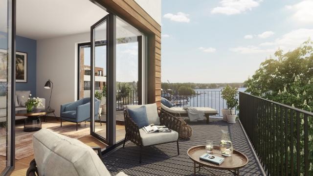 ein Blick auf den Penthouse Balkon © Kondor Wessels
