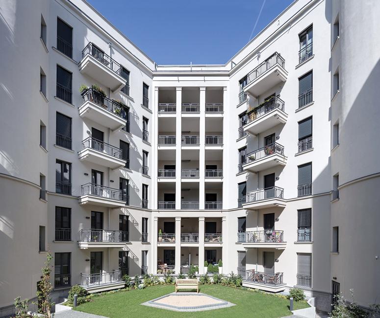 Architektur_Kaiserdamm_Innenhof Kaiserdamm 116 / Ecke Witzlebenstraße 1 in Berlin-Charlottenburg