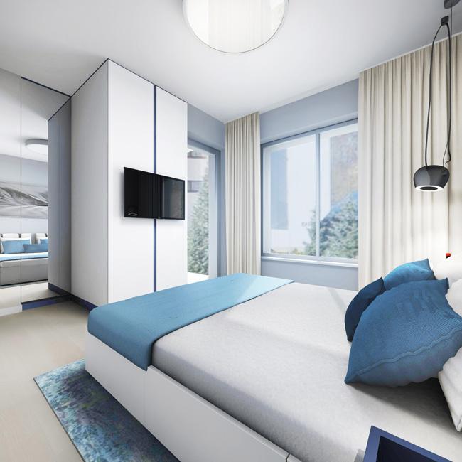 Beispiel-Apartment 2 Visualisierung © Andrzejczuk GmbH