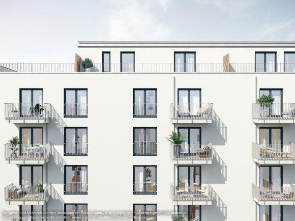 Fassadenansicht © PROJECT Immobilien Wohnen AG