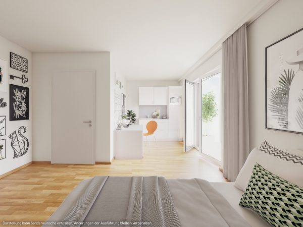 Innenansicht © PROJECT Immobilien Wohnen AG