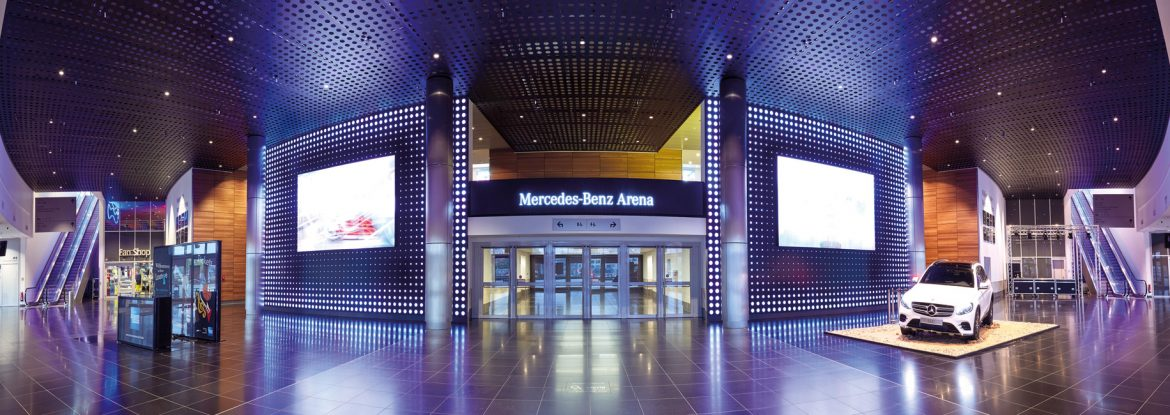 Architektur-Mercedes-Benz-Arena-Entree-1170x415 Mercedes-Benz Arena in Friedrichshain