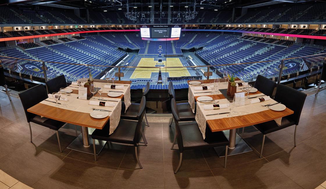 Architektur-Mercedes-Benz-Arena-Premiumbereich Mercedes-Benz Arena in Friedrichshain