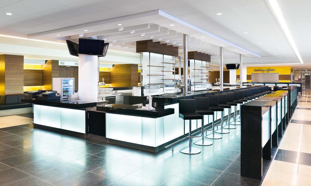 Architektur-Mercedes-Benz-Arena-VIP-Lounge Mercedes-Benz Arena in Friedrichshain