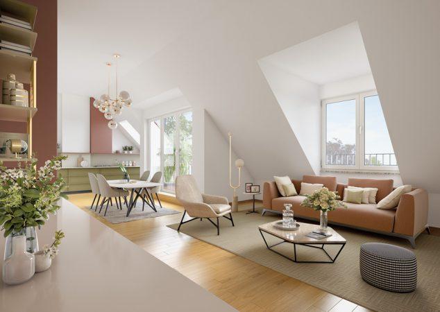 WAIDMANNS Unverbindliche Visualisierungen © PROJECT Immobilien Wohnen AG