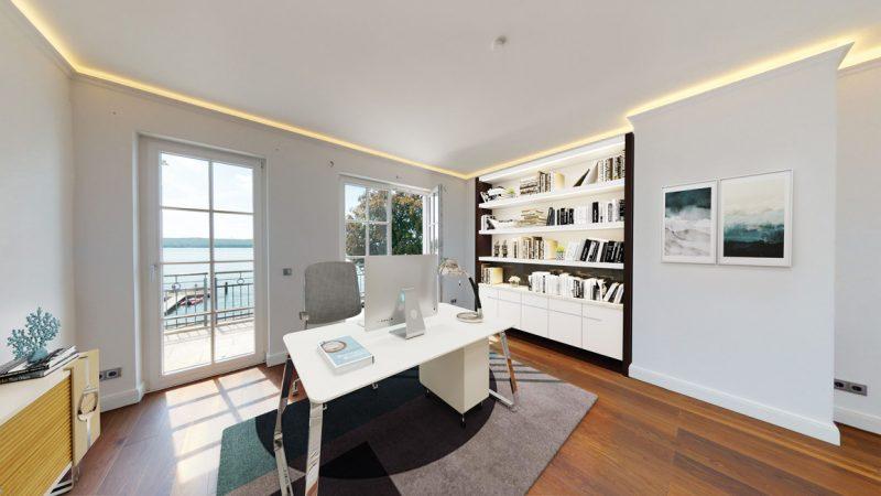Unverbindliche Visualisierung - Müggelsee-Residenzen,  Arbeitszimmer © D.K. Real Estate