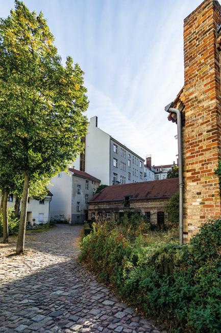 Architektur_Berlin-Neukoelln-Boehmisches_Dorf_DSC6976 Mala ulicka - Idylle in Böhmisch-Rixdorf