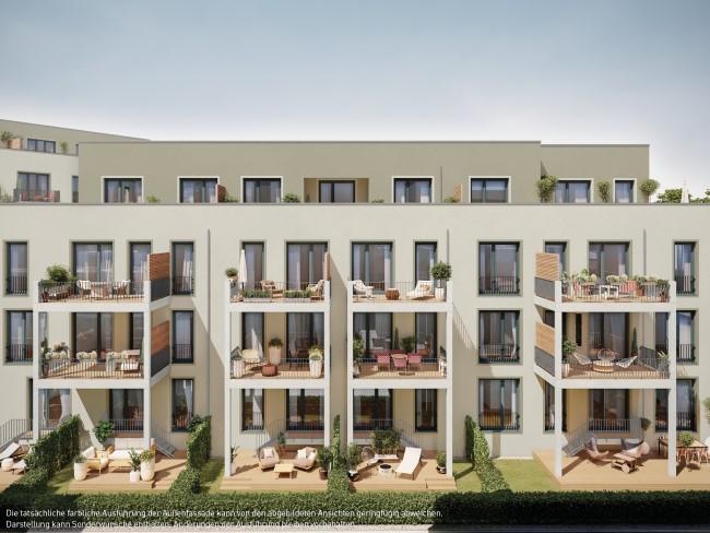 ein Blick auf die Fassade © PROJECT Immobilien Wohnen AG