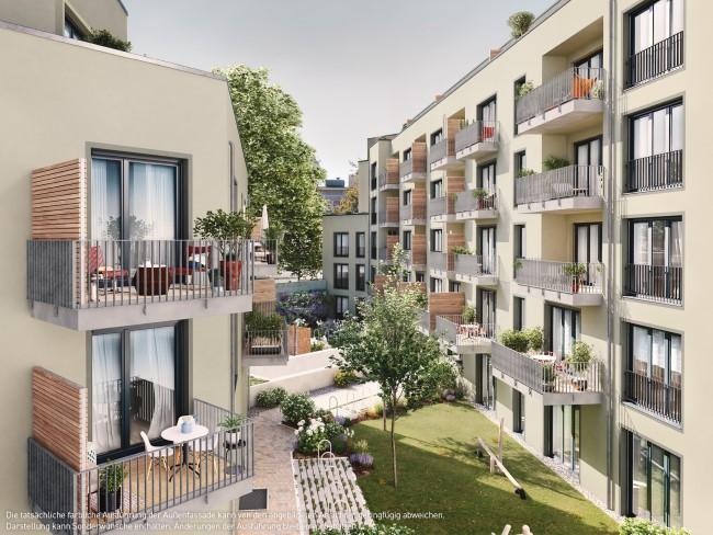 ein Blick auf die Balkone © PROJECT Immobilien Wohnen AG
