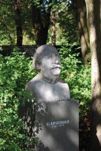Archenhold-Sternwarte_Statue_of_Archenhold_Sideview-201x300 Die Archenhold-Sternwarte im Treptower Park