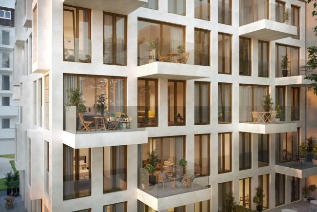 ein Blick auf die Fassade © unverbindliche Visualisierung / Ziegert EverEstate GmbH