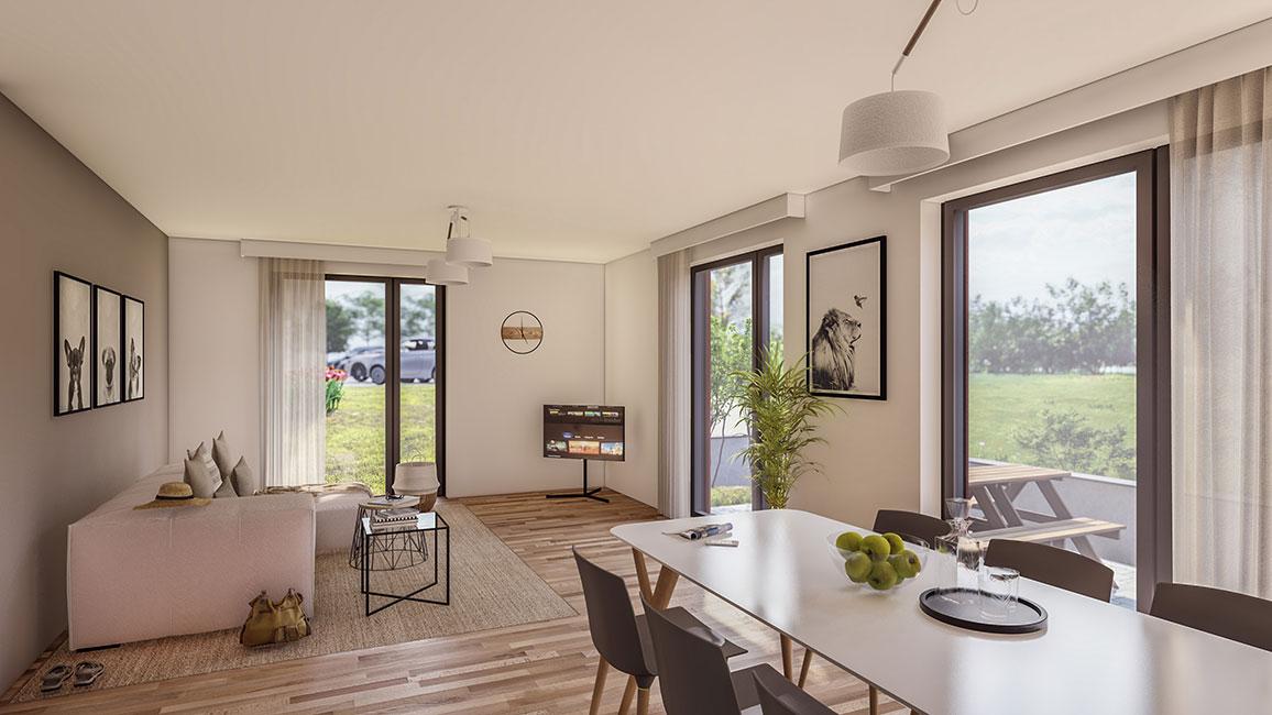 ein Blick in den Wohnbereich im EG © Kensington Finest Properties International