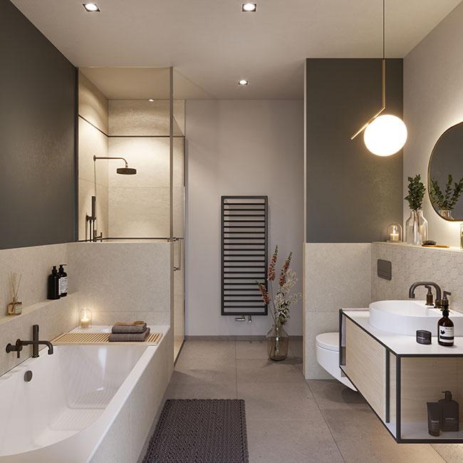 das wählbare Badezimmer © unverbindliche Visualisierung / Ziegert EverEstate GmbH