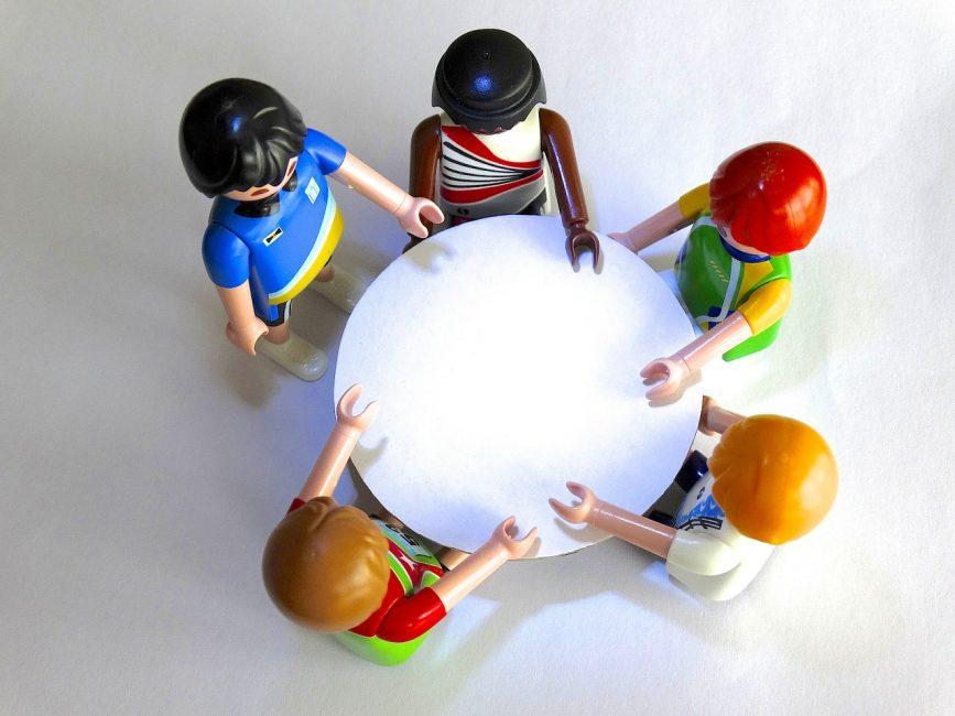 Tisch, Gespräch