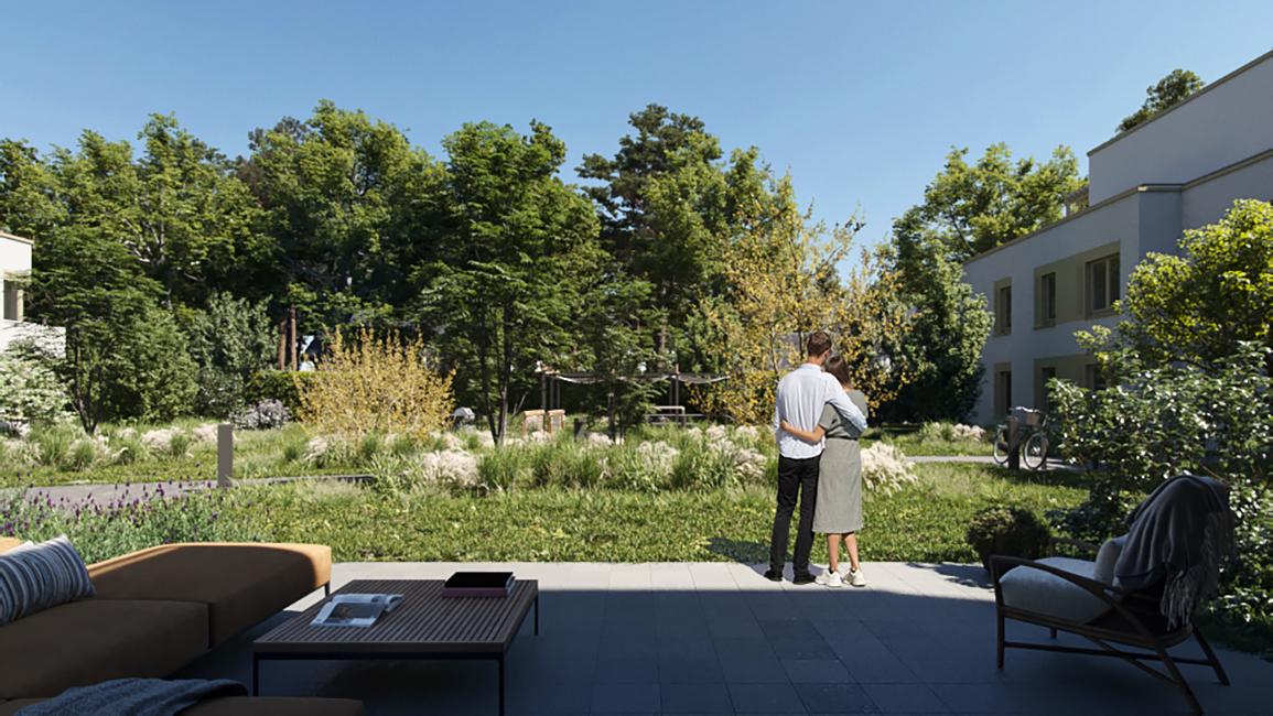 Gartenwohnung mit Terrasse © Engel & Völkers IMAGINA