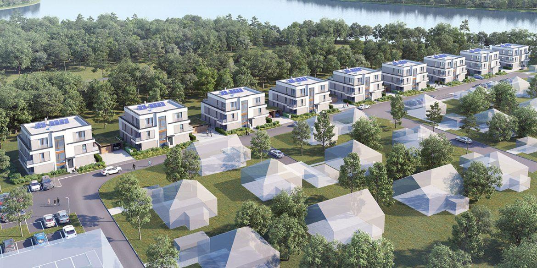 Lageplan der NordVillen / unverbindliche Visualisierung © HELMA Wohnungsbau GmbH