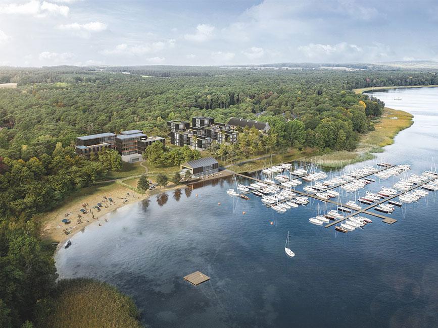 Marina-Apartments-Blick-auf-Resort Grundsteinlegung für Marina Apartments Bad Saarow