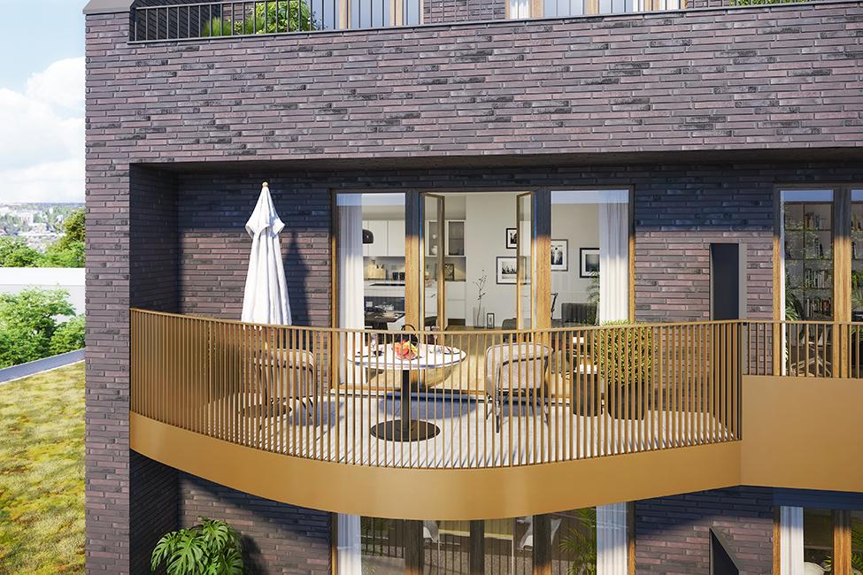 stilvolle Balkonlandschaften / 3D-Visualisierung © Archlab