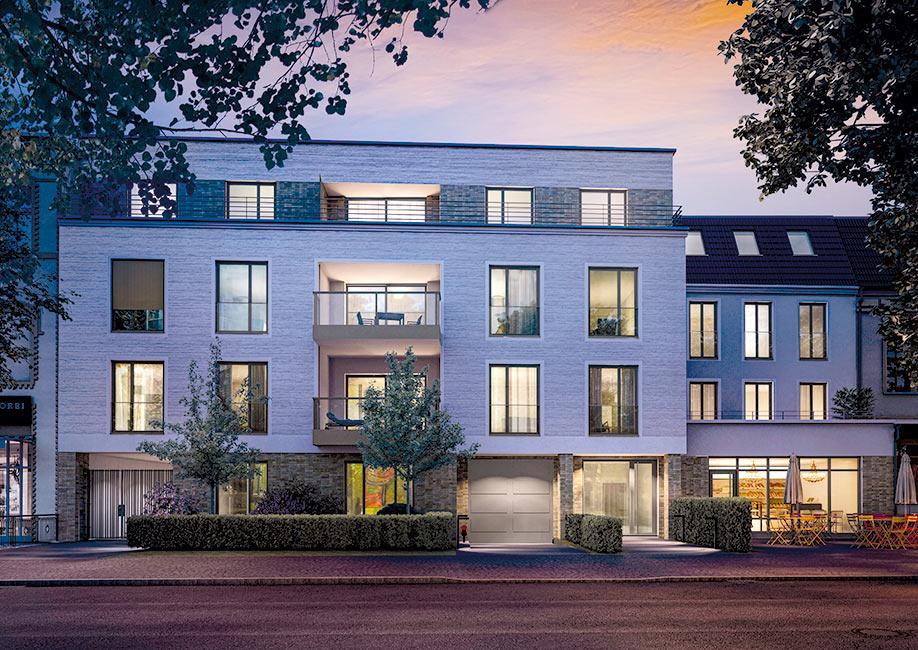 Immobilie-des-Monats-LUV-und-LEE-Basel-Immobilien-GmbH-Strassenseite-Abend Neubauprojekt LUV & LEE