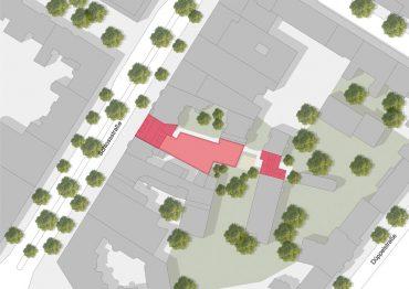 Schloßstraße 92, Visualisierung Lageplan