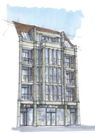Schloßstraße 92, Planungsskizze © Michael Matusiak