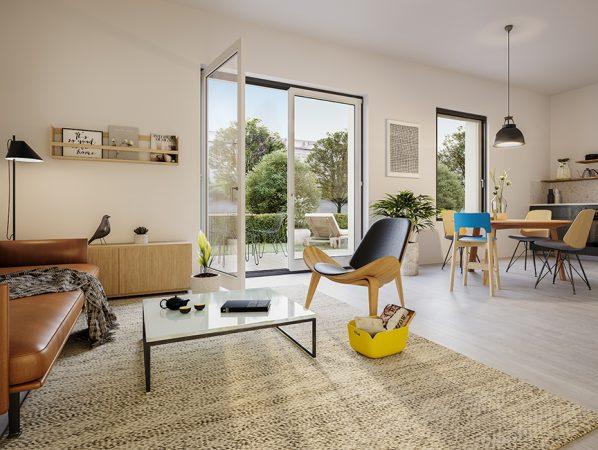 ein Blick in den Wohnbereich © unverbindliche Visualisierung / Ziegert EverEstate GmbH