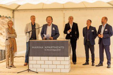 Grundsteinlegung Marina Apartments in Bad Saarow